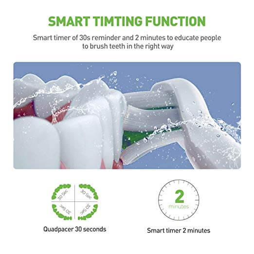 curatare eficienta cu periute de dinti electrice