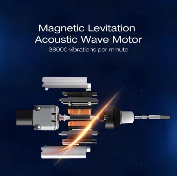 motorul sonic cu 38000 rotatii de frecventa joasa pentru periuta de dinti electrica